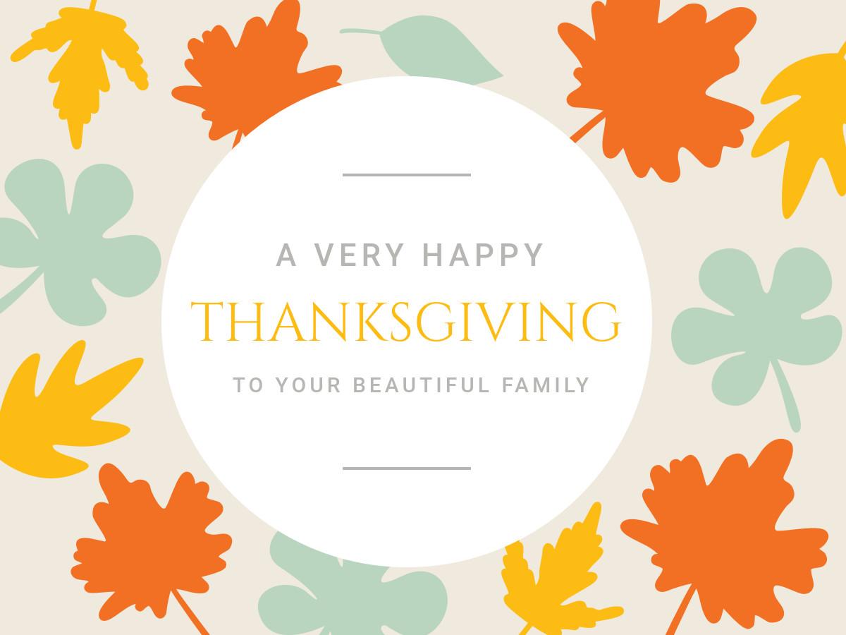 Happy Thanksgiving 感恩節